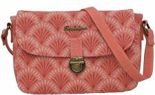 Brakeburn Shells Saddle Bag Coral Red Retro Messenger Cross Body