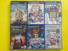 PLAYSTATION 2 (PS2) VARIOUS GAMES BUNDLE X 6 GAMES Final Fantasy Star Wars GTA