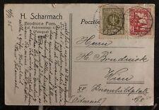 1925 Brodnica Poland Postcard Cover To Vienna Austria