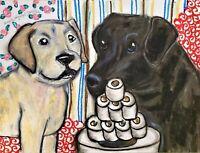 4 x 6 Art Print Labrador Retriever Dog Collectible Kimberly Helgeson Sams Labs