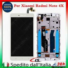 Per XiaoMi Redmi NOTE 4X LCD Touch Screen Display Vetro Con Frame Blanco