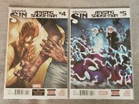 Amazing Spider-Man #4 & 5 - AMERICAN EDITIONS 1st and 2nd App of Silk VF/NM & NM