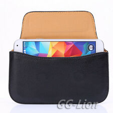 Pouch Holster Leather Case with Belt Loop for Samsung Galaxy S5 Duos LTE G900FD