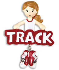 PERSONALIZED CHRISTMAS ORNAMENT SPORTS-TRACK-GIRL