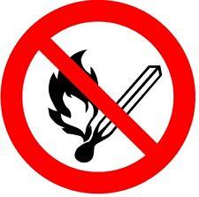 Keine offene Flamme - Verbotszeichen nach ISO 7010, Aufkleber
