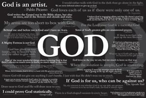 Quotes About God Religion Art - Poster 24x36 inch