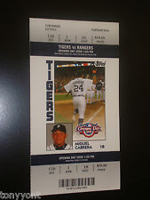 Detroit Tigers 2009 Opening Day Unused Ticket Stub