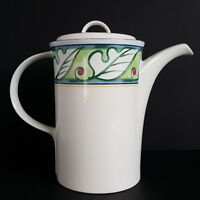 Mikasa Color Vive Coffee Pot and Lid Green Leaves Intaglio CAC89 More Pcs Avail