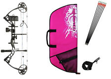 Diamond Infinite Edge Pro RH BLACK & PINK Womens Compound Bow UPGRADED Package