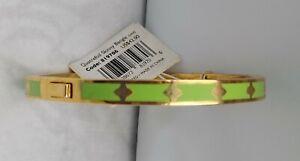 Vintage~~Spartina 449~~Daufuskie Island~~Gold Plated~~Quatrefoil Hinged Bracelet