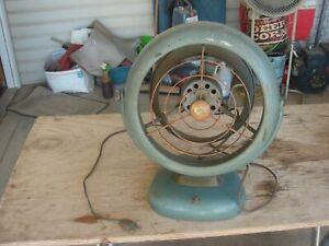 """Vintage 12"""" Art Deco Vornado 3 Blade Fan Model B24C1-1 Missing Fan Blade"""