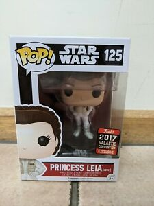 BNIB Princess Leia (Hoth) FUNKO Pop STAR WARS #125 Galactic Convention SWC 2017