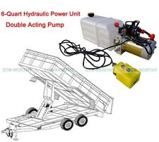 DC12V Volt 6 Quart Double Acting Hydraulic Pump Power Supply Unit Pack Lift