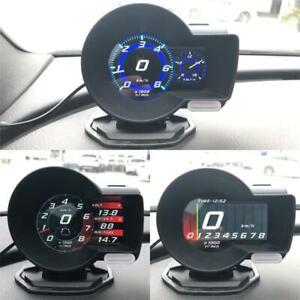 Car Digital Display Multi-function Gauge OBD2 HUD Gauge Boost EGT Scan Tool