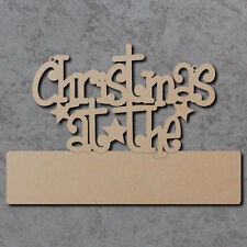 Christmas At The Blank Plaque Sign (Funky Font) - Wooden Craft Blanks and Signs