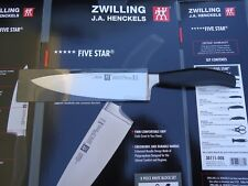 New Zwilling J.A. Henckels Five Star Twin 8 inch Chef's Knife 30041-200 Germany