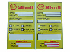 SHELL Oil Change Service Reminder Stickers - Set of 10 PVC Stickers