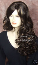 Long Side Parting Wig in Dark Brown With Highlights / Brilliant Fibre & Quality