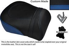 BLACK & ROYAL BLUE CUSTOM FITS SUZUKI INTRUDER VL 1500 98-04 REAR SEAT COVER