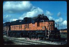 Original Slide MILW Milwaukee Road SD7U 547 In 1983 At Bensenville IL
