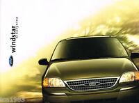 1999 Ford WINDSTAR Mini Van Brochure / Catalog w/Color Chart: LX,SE,SEL, MiniVan