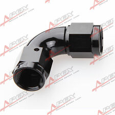 AN-8 AN8 To AN8 8AN 90 Degree Female To Female Full Flow Adapter Black