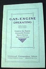 1907 Gas Engine Operating Booklet Automobile Stationary Marine School Program