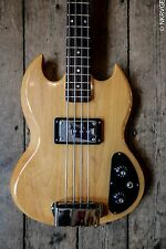 1972 VINTAGE GIBSON EBO L BASS NATURAL FINISH WITH HARDSHELL CASE