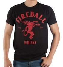 Men's Fireball Red Hot Whisky Licensed Tee T-shirt Red / Black Size Medium 38-40