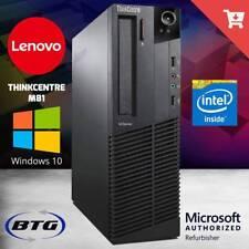 Fast Lenovo Desktop Computer 12GB 2TB PC Windows 10 Pro Keyboard Mouse WiFi DVD