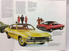"""Vtg 1973 Maverick 13 Pages 11"""" X 11"""" Features Ford Colored Pictures Cars Grabber"""
