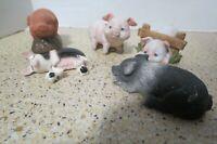 Lot Of 7 Pieces Ceramic Pig And Piglet Figurines Enesco Sandicas Farm Country