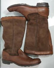 UGG AUSTRALIA Womens Sz 8 Brown Genuine Sheepskin Leather Mid Calf Boots