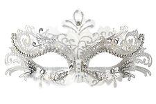 Masquerade Mask Venetian Masquerade Women Mask Costume Party Face Mask (White)