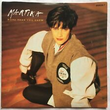"Martika - More Than You Know -  CBS Records Picture Sleeve 7"" Single 655526 7"