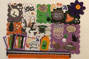 Hocus Pocus Halloween Custom Chipboard Mini Book Album Kit Scrapbook