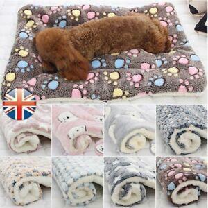 Pet Cat Dog Puppy Blanket Bed Mattress Spring Kennel Fleece Sleeping Calming Mat