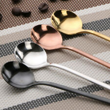 304 stainless steel coffee spoon small round spoons dessert stir soup Likable