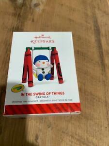 Hallmark Keepsake Ornament 2014 Crayola Crayons In the Swing of Things Swinging