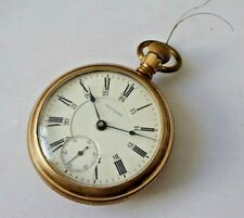 Gent's Antique American Waltham Gold Plated Hand Winding Mechanical Pocket Watch