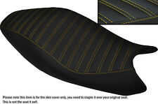 DESIGN 5 YELLOW STITCH CUSTOM FITS DUCATI MONSTER 2008-2012 LEATHER SEAT COVER