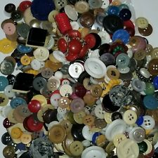 Buttons Large Lot 1 lb 6 oz Mixed Vtg Plastic Metal + Sewing Crafts Large Small