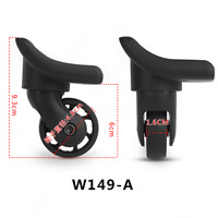 Repairment Luggage Wheel Spare Swivel Caster for Suitcase Replacement Black W149
