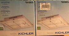 """2 - Kichler 11.8"""" x 11.8"""" Chrome LED Flush Mount Light Bright White NEW"""