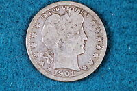 ESTATE FIND 1901-P Barber Quarter Dollar!! #D0481
