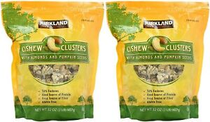 2 PACK KIRKLAND SIGNATURE CASHEW CLUSTERS WITH ALMOND & PUMPKING SEEDS 2 LB EACH