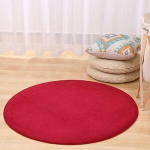 Round Solid Flannel Memory Foam Carpets Area Rug Bedroom Doormat Floor Mat Mats