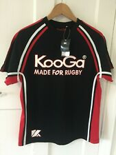KOOGA Made for Rugby contrast panel T-Shirt Black/Red/White Small Adult BNWT