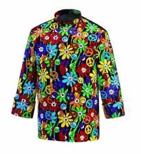 Jacket Chef Cook Man Fantasy Peace & Love Long Sleeve 100% Cotton Egochef