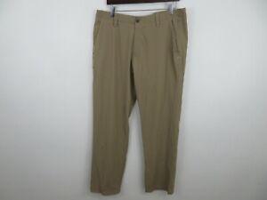 Under Armour Golf Pants Athletic Beige Khaki Stretch Mens Size 38x32